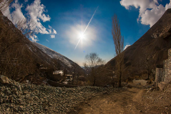 Blue Sky, Mountain, Lavasan, Afje, Fisheye