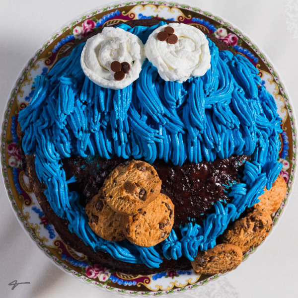 Cookie Monster, Sesame Street, Birthday, cake