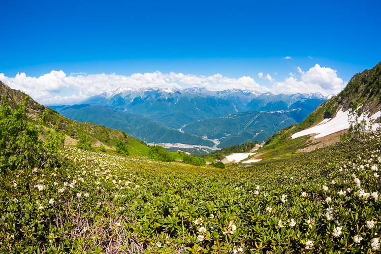 Caucasus or Ghafghaz Mountains, Sochi, Russia