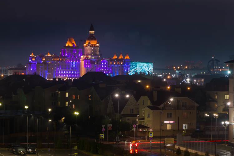 Sochi Park, night, Sochi, Russia