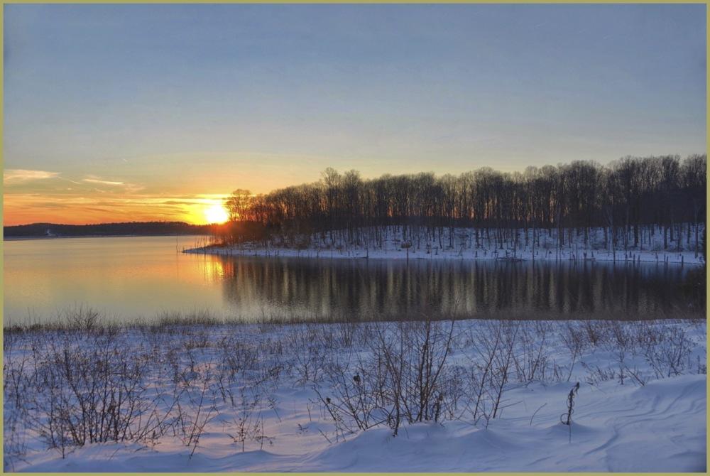 Winter Sunset at merrill Creek