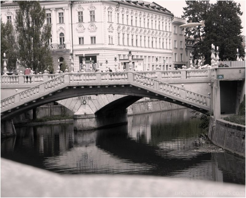 quiet little Ljubljana