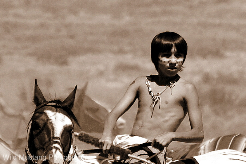 Native American Warrior boy