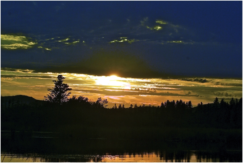 Woods    Sunset    water