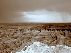Badlands National Park, South Dakota, USA.