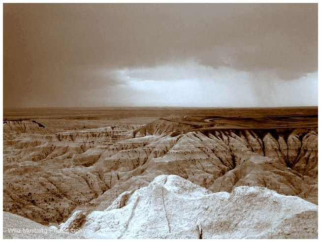 Badlands, South Dakota, USA.     Rock