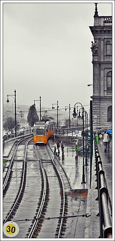 rainy day in Budapest