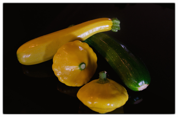 Courgettes And Patti Pan