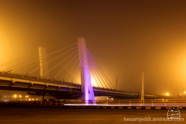 bridge in the fog