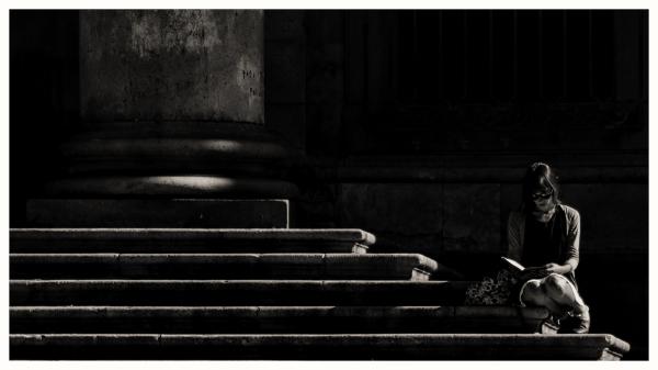 black and white street V