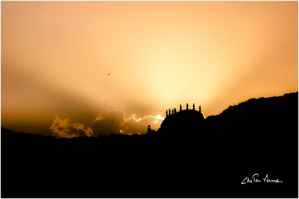 A royal sunset
