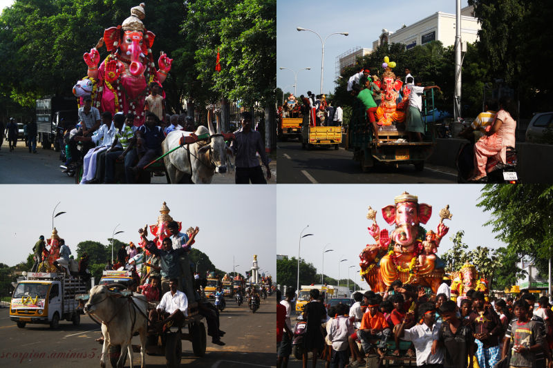 A Glimpse of Lord Ganesha's final road journey ...