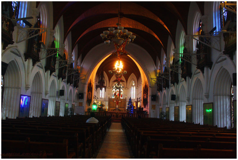 Inside the Santhome Church, Chennai.