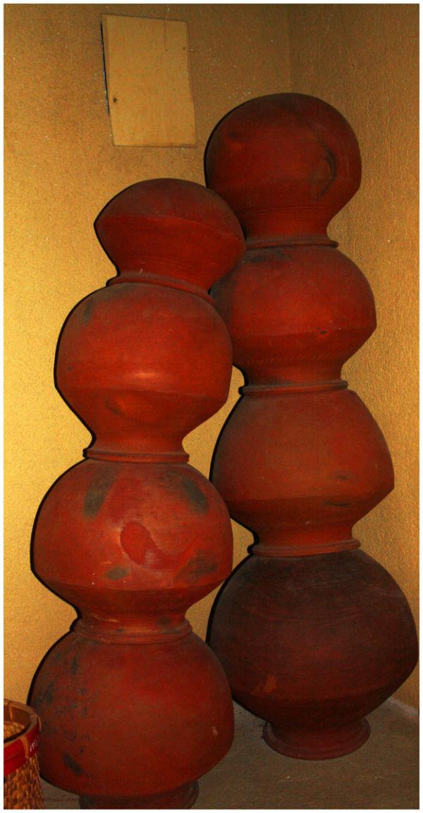 Clay pots...