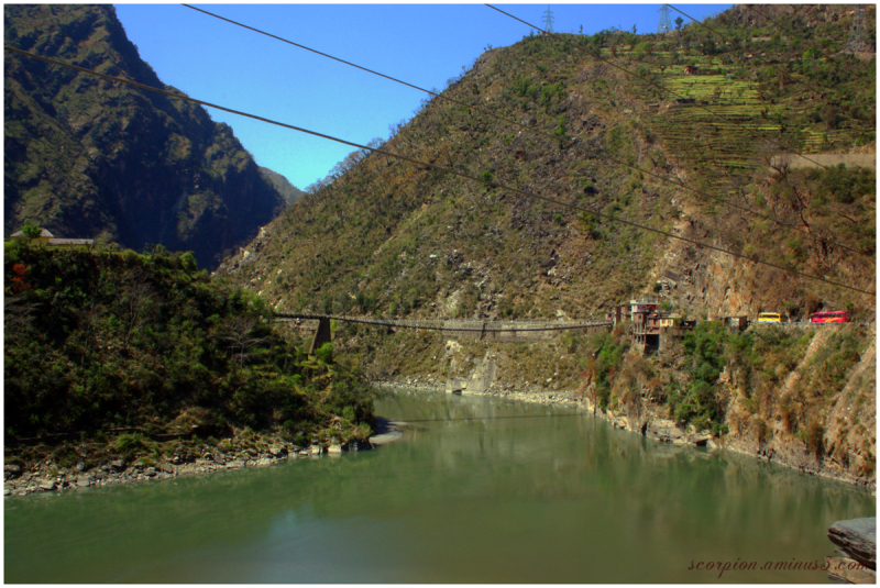 Hanging Bridge across River Beas...