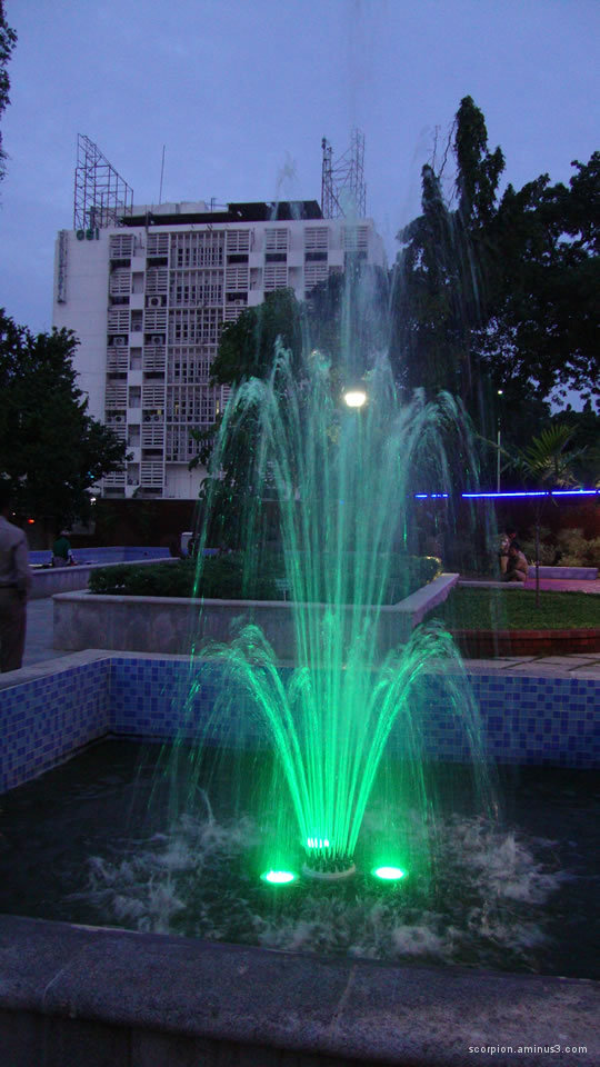 Green fountain @ a park in Chennai...