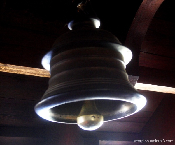 Bell in Bagamandala temple, Coorg
