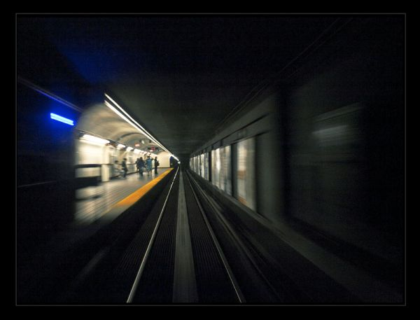 leaving the station