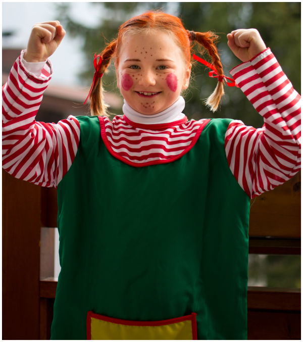 Kerstin as Pippi Longstocking
