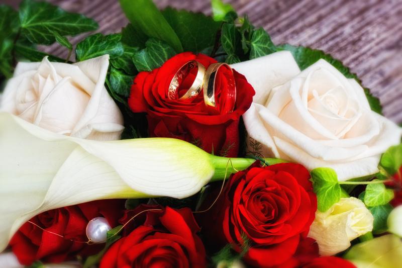 Rings on flowers
