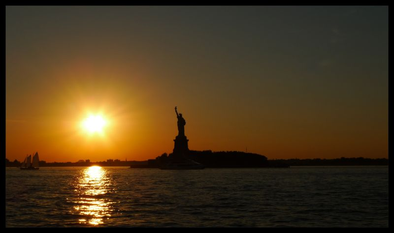 Sun, Manhatan, Statue, Liberty, Life, Bots, Pirate