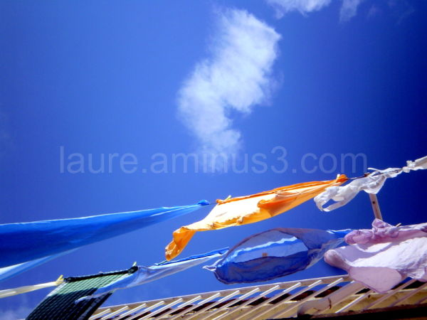 clothes in the corsican sun