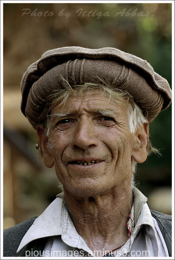 An old man at Bamburet valley, Kalash.