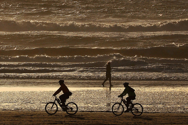 Bicycle Riding at the Beach
