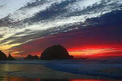 Sunset scene at Seal Rock