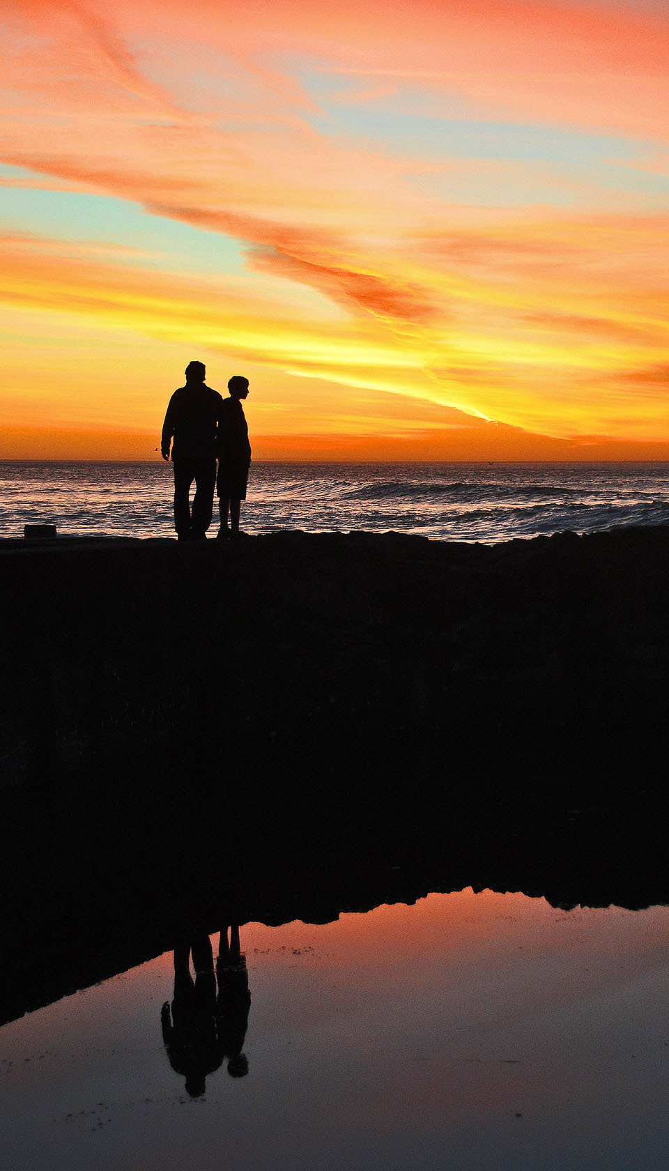 Sunset at Sutro Baths