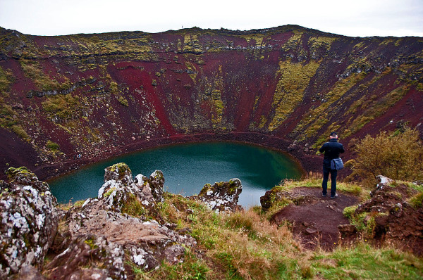 Old Volcano Crater at Iceland