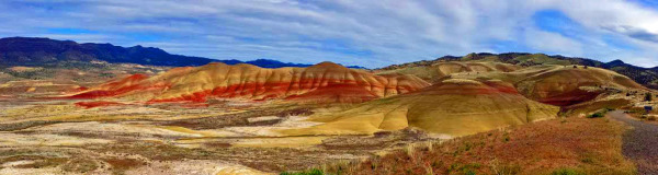 Panorama Painted Hills Mitchell Oregon