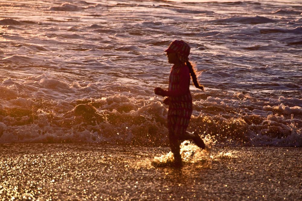Joyful at the Beach