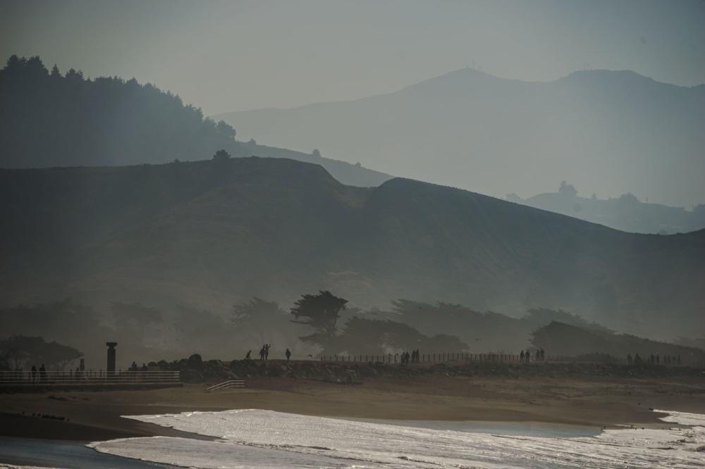 Mist view at Half Moon Bay