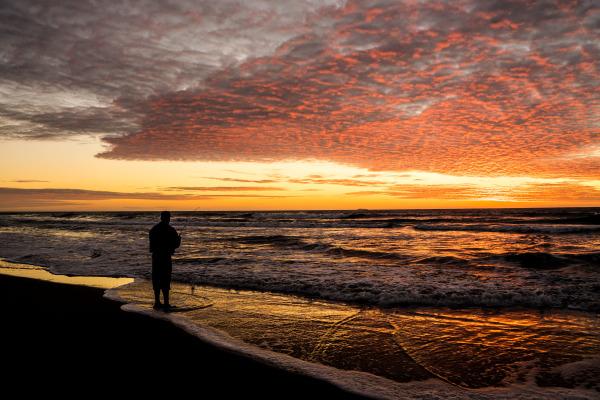 Sunset time fishing
