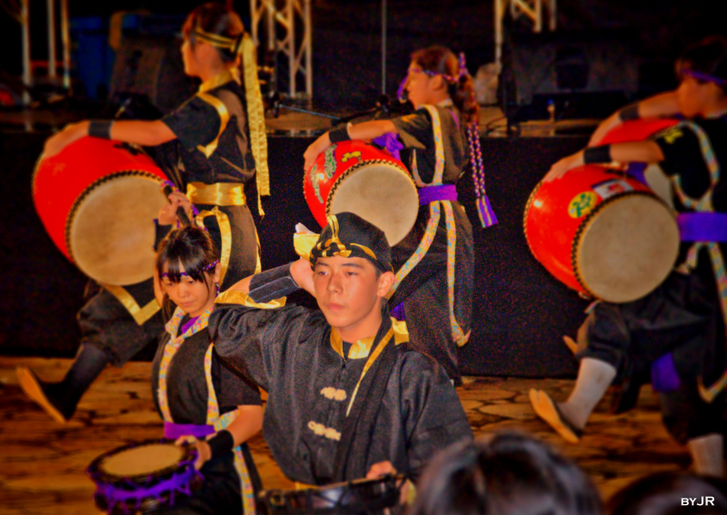 Traditional Okinawan dancers.