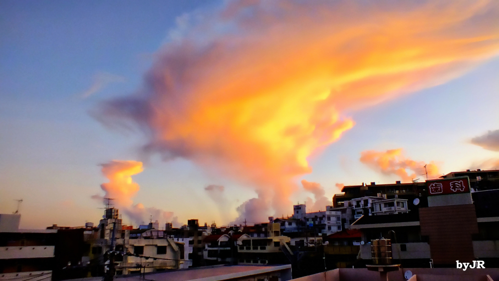Okinawa morning sky.