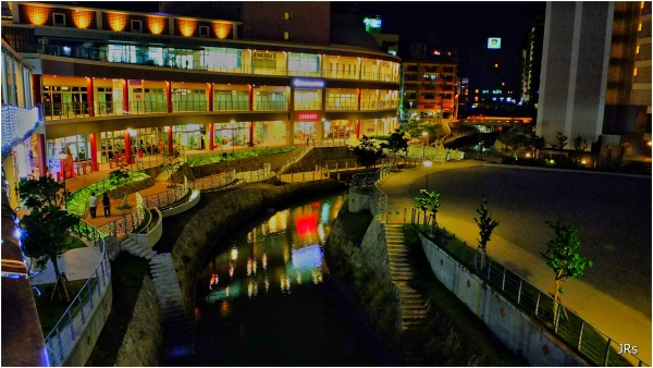 Small shopping area in Naha city.