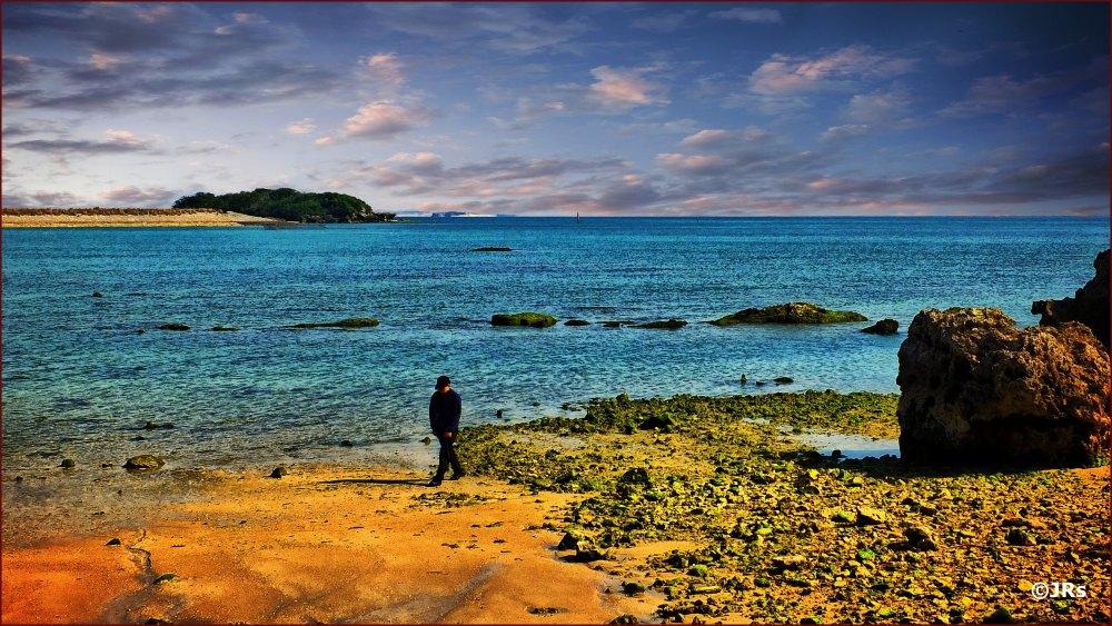 A beach in southern Okinawa.