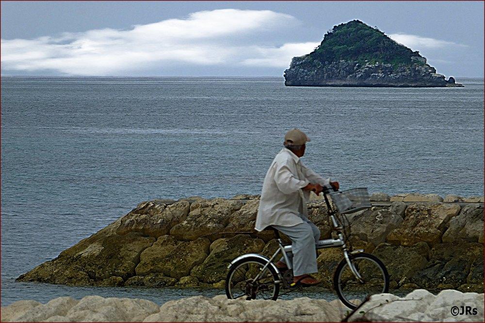 Bike ride by the ocean.
