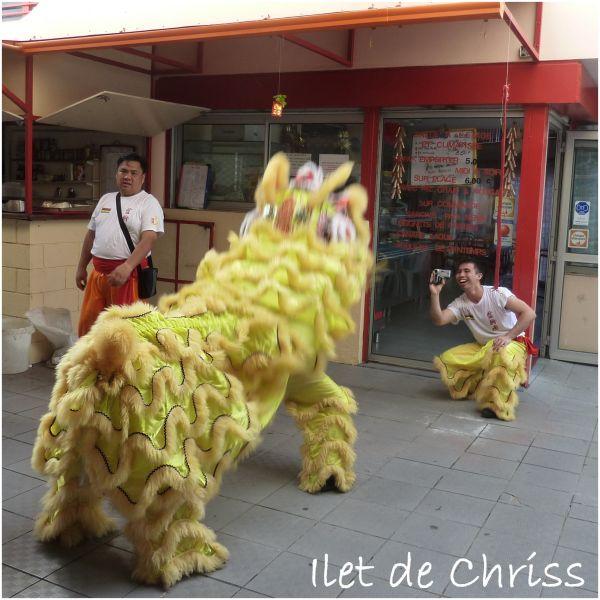 Dragon dansant pour le nouvel an chinois