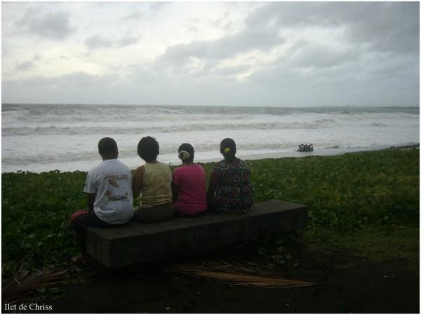 Spectateurs devant la tempête