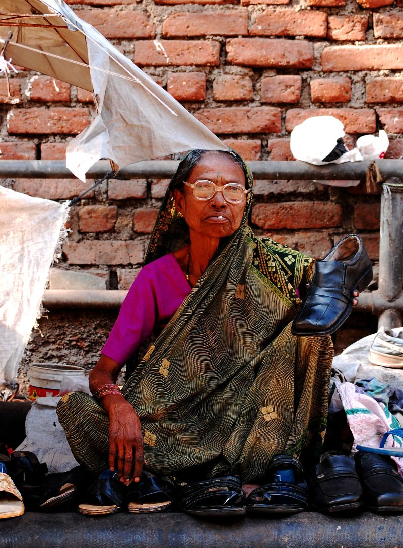 Cobbler lady from India