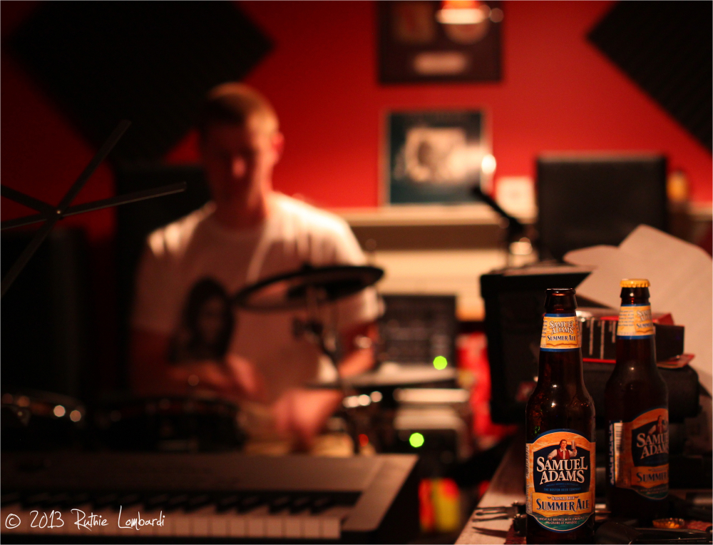 sam adams in the recording studio