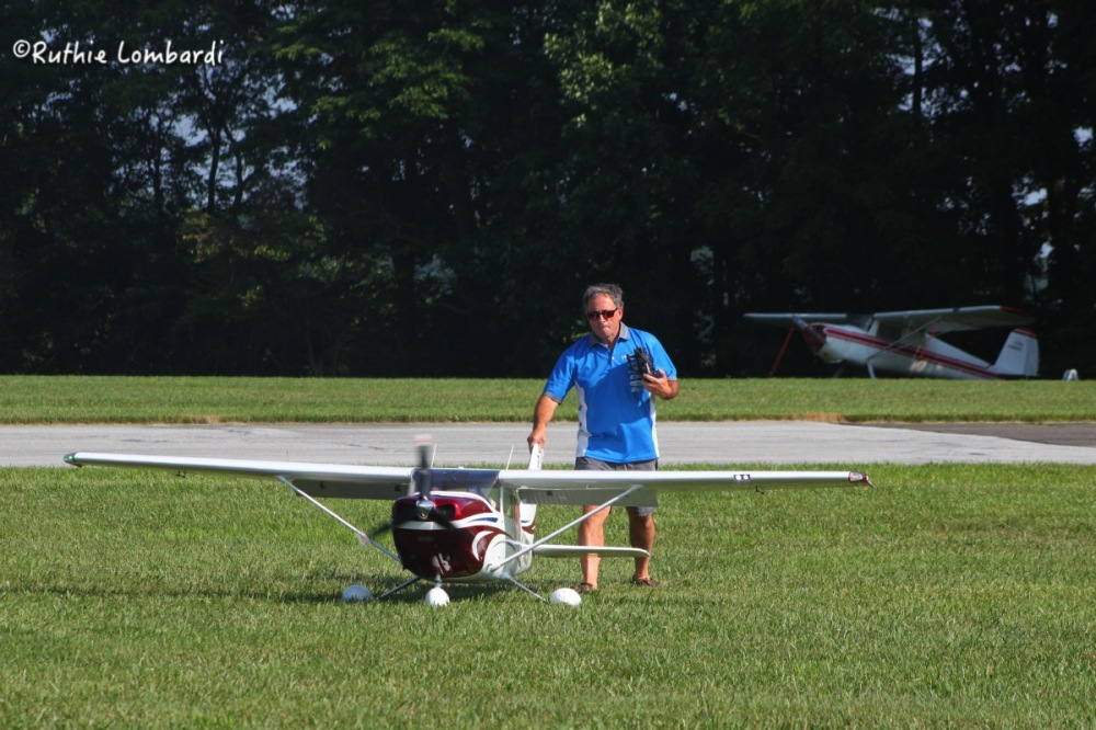 remote airplane at the new garden flying field