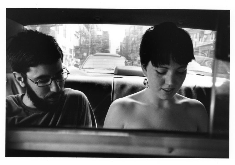 couple in a back seat