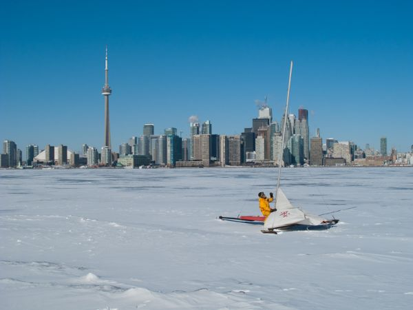 "Toronto skyline ""Lake Ontario"" Winter Islands"