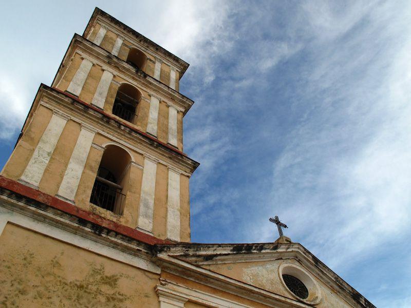 "Remedios Cuba ""Main Square"" church"