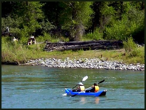 Kayaking the Yellowstone