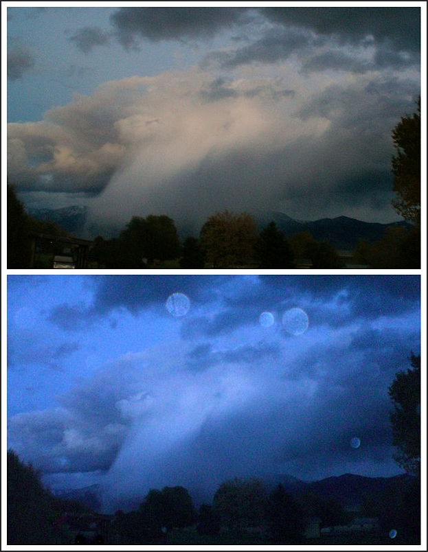 Paradise Valley     Montana     October.rain.orbs